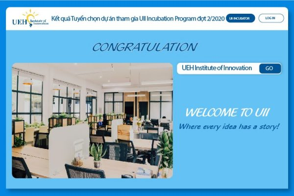 Thông báo kết quả chương trình tuyển chọn dự án tham gia UII Incubation Program 2020